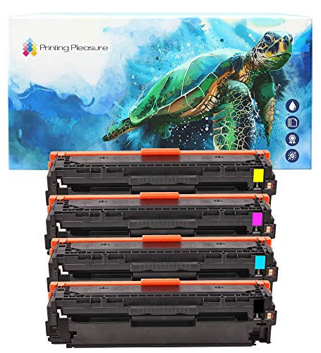 Printing Pleasure FULL SET of Compatible Laser Toner Cartridges for HP...