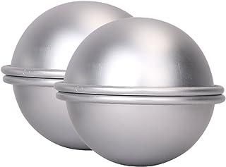 Youbedo 2 Molds Metal Bath Bomb Mold Bath Fizzies Large Size 8cm