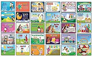Inspirational Bible Verses Flash Cards NIV Version (30 Pack) - Help Your Little Ones Learn The Bible Scripture The Fun Way