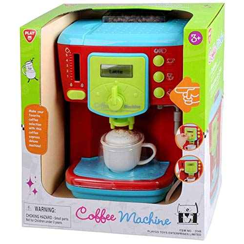 Kinder Kaffeemaschine / Kaffeevollautomat / Cappuccino / Latte macchiato / Espresso / spiele einfach die Erwachsenen nach, brühe Dir deinen Lieblingskaffee / ideal für die Spielküche / mit Licht und Geräusche
