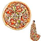 Wenosda Manta de Pizza Manta Redonda de Alimentos Burrito Mantas de Tortilla Envoltura Playa para Dormitorio Sofá Exterior Cuatro Estaciones (152 cm / 60 in) (Estilo Chili)