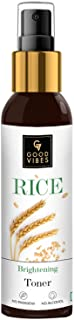 Good Vibes Rice Brightening Toner 120 ml, Hydrating Light Weight Moisturizing Glowing Face Spray Toner for All Skin Types,...