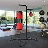 Little Story 🇺🇸 Shipped from the United States 🇺🇸 Heavy-Duty Boxing Punching Bag Rack Free Standing Boxing Bag for Home Fitness Speed Ball Punching Bag Stand Fitness Equipment
