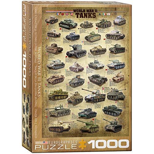 EuroGraphics 6000-0388 Panzer des 2. Weltkriegs Puzzle, Mehrfarbig