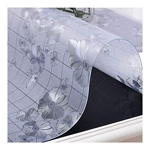 NINGWXQ Vloermatten for Kantoor Tafel Beschermer 2,0 Mm Dik Plastic Tafelkleed Theetafel Matten Eettafelmatten, 4 Patronen, Aanpasbaar (Color : B, Size : 140x200cm)