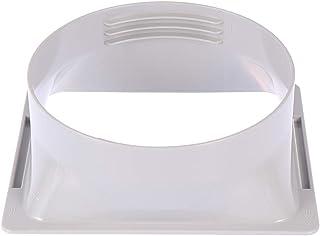 OSALADI Acondicionador de Aire Manguera de Escape Interfaz Cuadrada Manguera Junta Conector Brida Plástico Aire Acondicionado Tubería Accesorio
