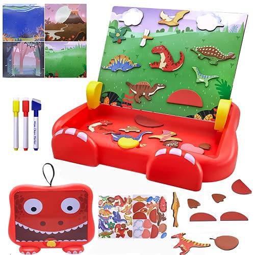 Beyiudefu Puzzle Lavagna Magnetico per Bambini & Tavoletta Grafica Scrittura Giochi Educativi Regalo Giochi per Bambini 2-8 Anni