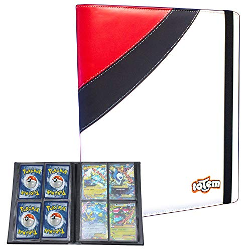 Totem World Premium Binder for Pokemon Card with 20 4-Pocket Side Loading Pages - Collectors Album Holds 160 Cards - Inspired Poke Ball image