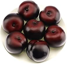 Gresorth 8pcs Artificial Realistic Brin Plum Fake Fruit Home Party Decoration Food Toy Photography Props Model