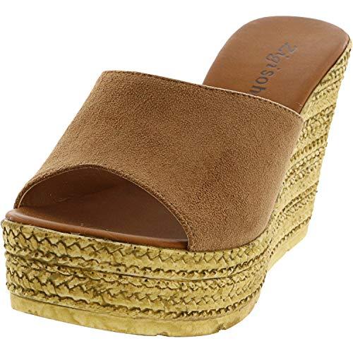 ZIGI SOHO Women's Aubry Wedge Sandal, tan, 6.5 Medium US