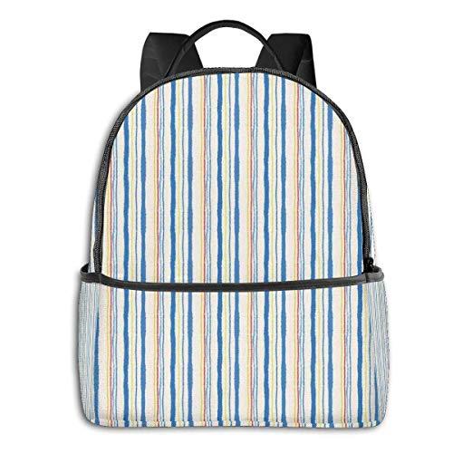 Schultasche doppelte Schwarze Rucksäcke, vertikale Streifen und Linien Muster mit zerrissenem Papier Effekt Digital Illustration, lässig Wandern Travel Daypack 12 '5' 14,5 'LWH