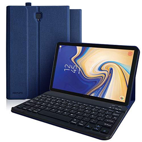 Funda Teclado Samsung Galaxy Tab S4, Funda para Samsung Tab S4 10.5 2018 Modelo SM-T830/T835/T837 con Teclado Español[QWERTY Español], Cubierta Magnética Delgada-Teclado Bluetooth Inalámbrico (Azul)