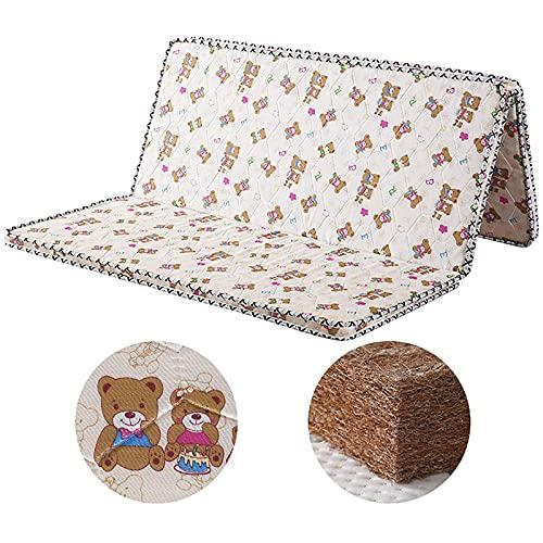 WJXBoos Coir Mattress, 3e Coconut Palm Cojín de colchón ortopédico hipoalergénico Colchón de dormir plegable de 5 cm Cama de invitados Tatami de sensación firme y silenciosa-l 135x190cm (53x75inch)