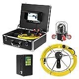 Asixxsix Cámara de inspección, cámara de inspección de tuberías Impermeable, Cable(European Standard (100-240v))