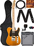 Fender Squier Affinity Telecaster - Butterscotch Blonde Bundle with Frontman 10G Amplifier, Gig Bag, Instrument Cable, Tuner, Strap, Picks, and Austin Bazaar Instructional DVD