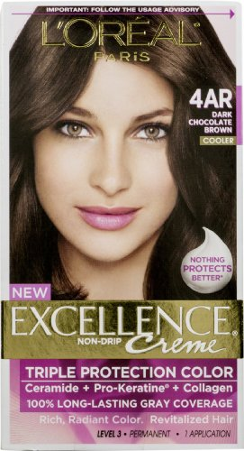 Price comparison product image L'Oreal Paris Excellence Creme Triple Protection Hair Color,  Dark Chocolate Brown [G15] 1 ea (Pack of 12)