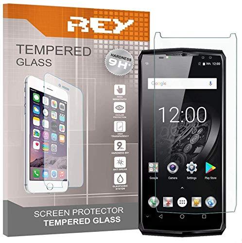 REY 3X Protector de Pantalla para OUKITEL K10, Cristal Vidrio Templado Premium