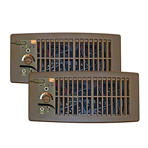 Suncourt Flush Fit Register Air Booster Fan - HC500-B - Brown - (2...