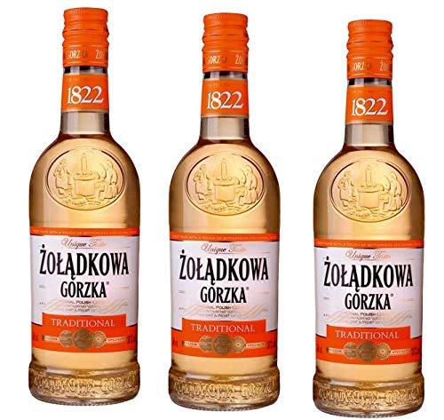 3 Flaschen Zoladkowa Gorzka Traditional Wodka 36{c17500d7b677ed3191ed57e3b7b0d0b74f3ce76d5b92f3142b62d6bdffe1e299} Vol. Polnischer Vodka a 0,5L
