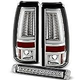 For 2003-2006 Silverado 04-07 Sierra 1500 2500HD 3500 LED Tube Bar Style Tail Lights + 3Rd Brake Cargo Lamps Combo