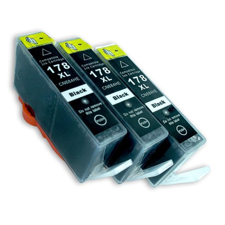 hp(ヒューレットパッカード) 純正互換インクカートリッジ HP178XL ブラック3本セット 【ICチップ有】 Angelshopオリジナル