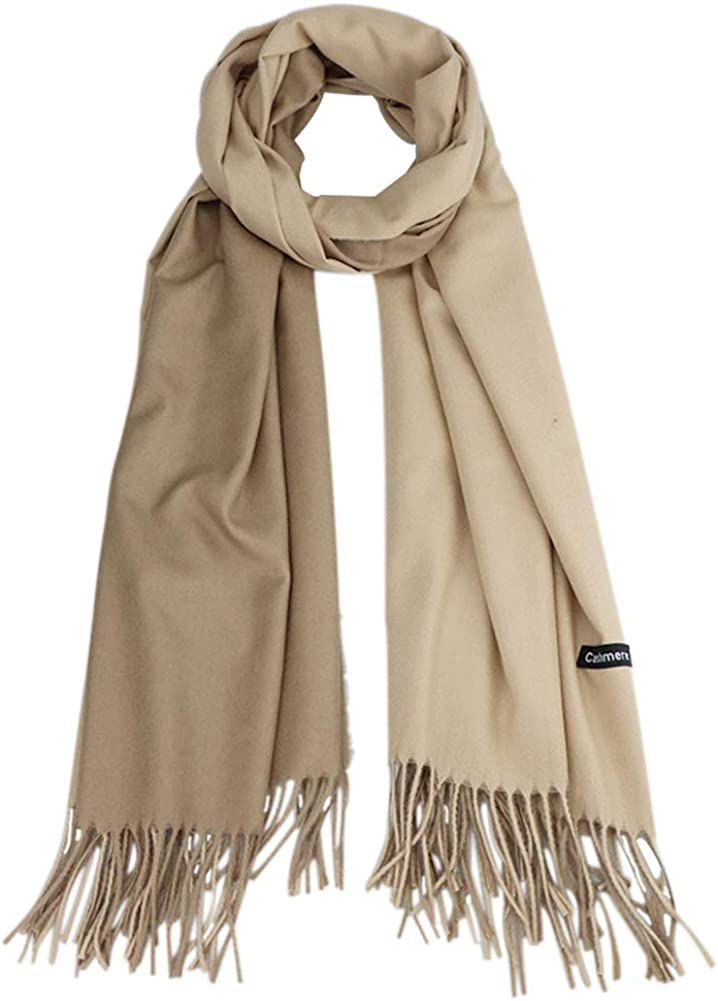 GUIFIER Cashmere Feel Scarf - Lightweight Scarfs for Women, Large Soft 2 Tone Shawls and Wraps