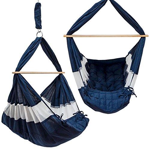 DuneDesign Baby hangmat 70x36x94 cm veerwieg hangwieg babyschommel blauw