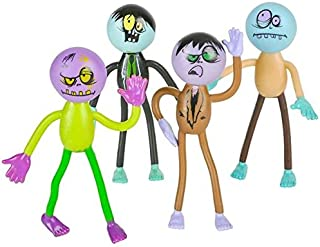 Neliblu Bendable Zombie Party Supplies Toys, Brings Your Party to Life! 1 Dozen Fun Bendable Toys by