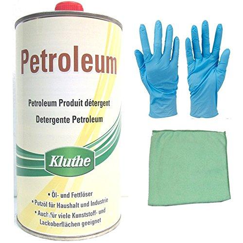 Petroleum inkl. Microfasertuch zum Auftragen (Petroleum 1 Liter)