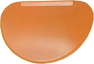 BESTONZON Flexible Bowl Scraper Contoured, Multipurpose Kitchen Scraper,Suitable for Shaping Dough and Cut Dough Pastry,Conforms to Any Mixing Bowl(Orange)
