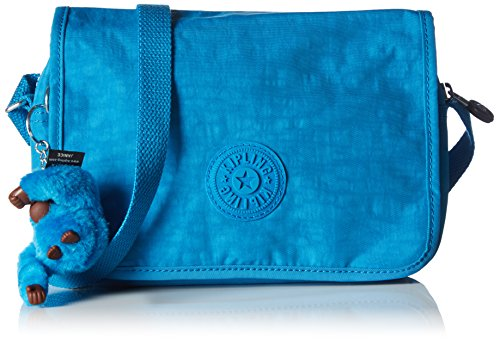 Kipling DELPHIN N K1238910N Damen Umhängetaschen 23x16x5 cm (B x H x T), Blau (Icy Blue 10N)