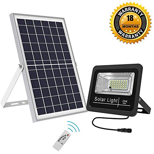 Solar Flood Lights Outdoor Led Lights Remote Dusk to Dawn 1500 LM Solar Security Light Super Bright...