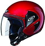 Studds Cub SUS_COFH_CREDL Open Face Helmet (Cherry Red, L)