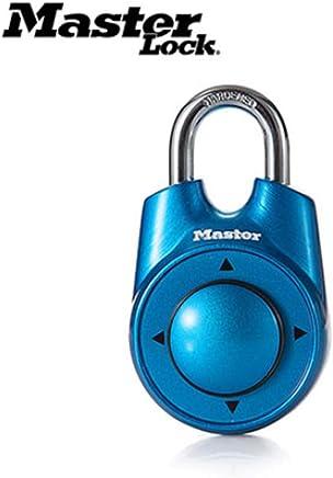STRIDCJX Master Lock Portable Couleurs Assorties Gym /École Club de Sant/é Combinaison Mot De Passe Directionnel Cadenas Locker Porte Serrure 5 Couleur,Blue