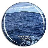 Seahouses Serenity Farne Island Boat Tours Reino Unido Inglaterra Imán de Nevera 3D de Cristal de la Ciudad de Viaje Recuerdo Colección de Regalo Fuerte Etiqueta Engomada refrigerador