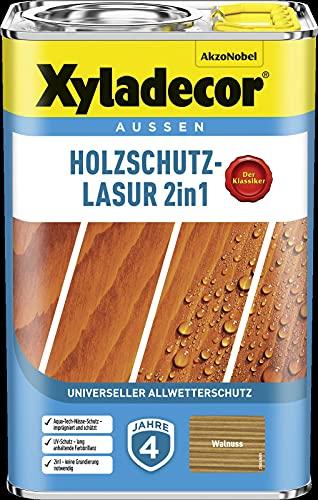 Xyladecor Barniz protector de madera 4 l exterior impermeabilizante (nogal)