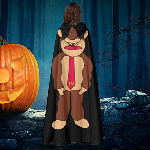 NULLYTG Donkey Kong Tm Krawatte Unisex Weihnachten Halloween Hexe Ritter Kapuzenmantel Vampir Umhang Umhang Cosplay Kostüm