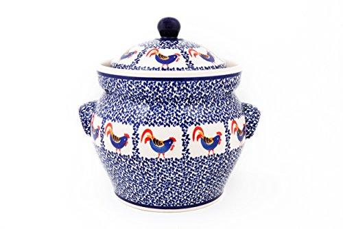 Original Bunzlauer Keramik Gärtopf 4 Liter / Rumtopf / Mehrzwecktopf / Keramiktopf im Dekor 1090