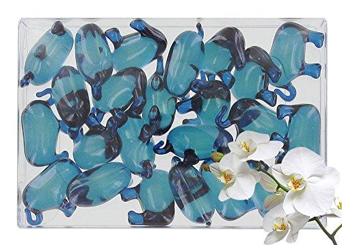 Caja 24 perlas baño forma elefante aroma orquídea