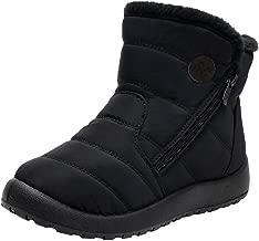WILLBE Women Warm Snow Boots Outdoor Women Winter Fur Lining Shoes Antislip Lightweight Ankle Bootie Waterproof Slip on