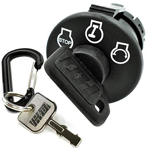 HD Switch Starter Ignition Switch Replaces Craftsman MTD Yard Machine Bolens Huskee Troy-Bilt Colt XP 925-04659, 725-04659 - 3 Position - w/1 Umbrella & 1 Steel Key & Free Carabiner