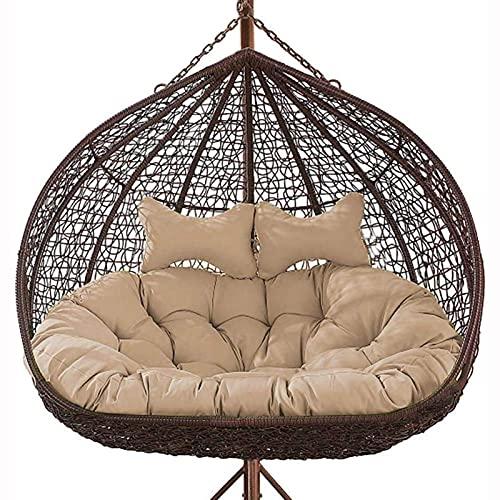 Pteng Outdoor Eierstuhl Hängematte Schaukelkissen, Hängende Eier Stuhl Kissen Für Patio Garten, verdicken Double Papasan abnehmbare Eier Nest geformte Kissen