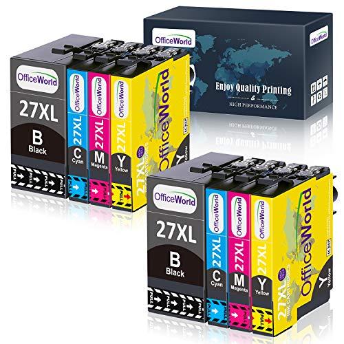 OfficeWorld 27 XL Druckerpatronen Ersatz für Epson 27XL Tintenpatronen Multipack Kompatibel mit Epson Workforce WF-3620 WF-3640 WF-7110 WF-7210 WF-7610 WF-7620 WF-7710 WF-7715 WF-7720