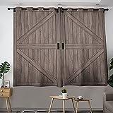 Cortina de aislamiento térmico con diseño de país occidental, elegante y eficiente de energía, cortinas filtrantes de luz, 84 x 84 cm