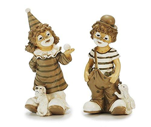 Unbekannt Sunny Toys Dekofigur, Polyresin, Braun & Weiß, 7 x 11 x 24 cm, 2-Einheiten