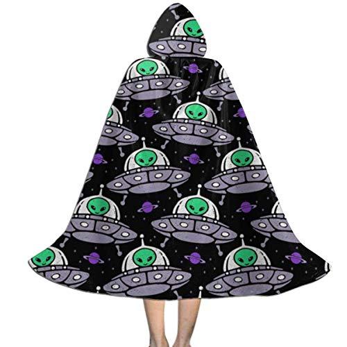 Capa para nios Capa con Capucha Nave Espacial Nave Espacial Alien Planet Disfraces de Halloween M