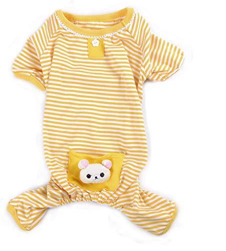 Haustier-Pyjama, weiche Baumwolle, Shirt, Jumpsuit, niedlicher Overall für Hunde und Katzen, Kleidung für Spiel, Schlafen