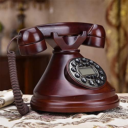 TAIDENG Teléfono Antiguo Teléfono Europeo Estilo Decoración Sólido Madera Retro Lanzamiento Inicio Oficina Antigua Antigua Teléfono Vendimia