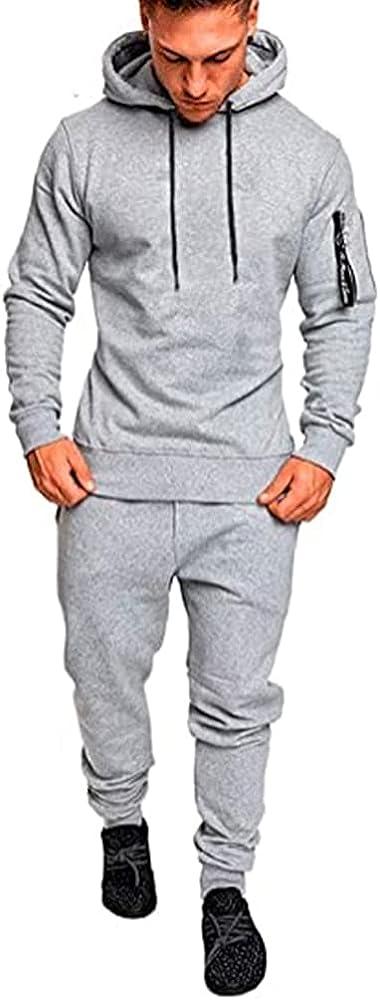 Men's lightweight sweat-absorbent Super popular specialty store jogging Price reduction hooded suit
