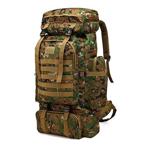 PPPOE Armee Rucksack, Rucksack Tarnung, 80L Outdoor-Ausrüstung Überleben Rucksack - Jagdrucksack,Grün